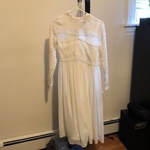 White Lace Midi dress- never worn for sale!